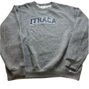 Ithaca New York Crew Neck Sweater Size Large